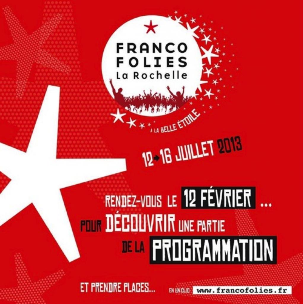 Les premiers noms de la programmation des Francofolies de la Rochelle lle 2013