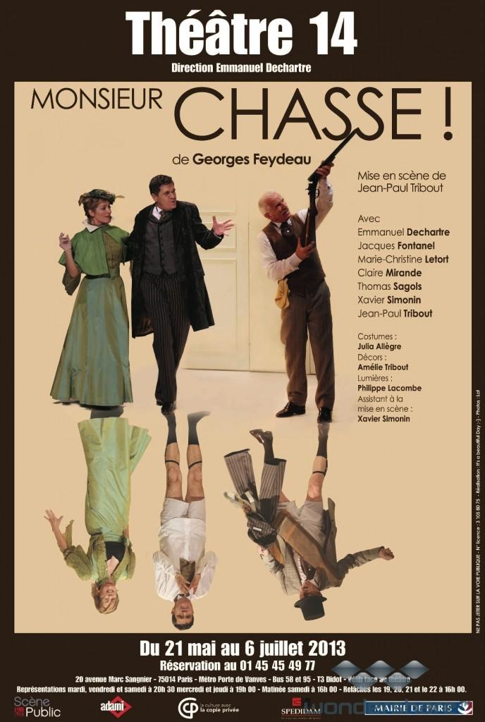 « Monsieur Chasse » avec génie au Théâtre 14