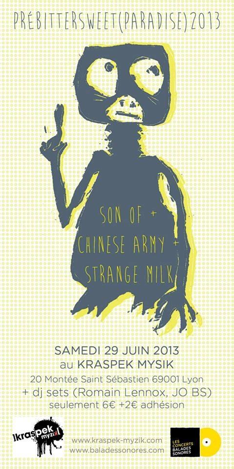 Gagnez votre place pour le concert pré BitterSweet (paradise) le 29 juin 2013 à Lyon