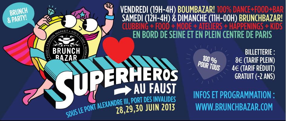 Les Super-Héros s'invitent à la nouvelle édition du BrunchBazar !
