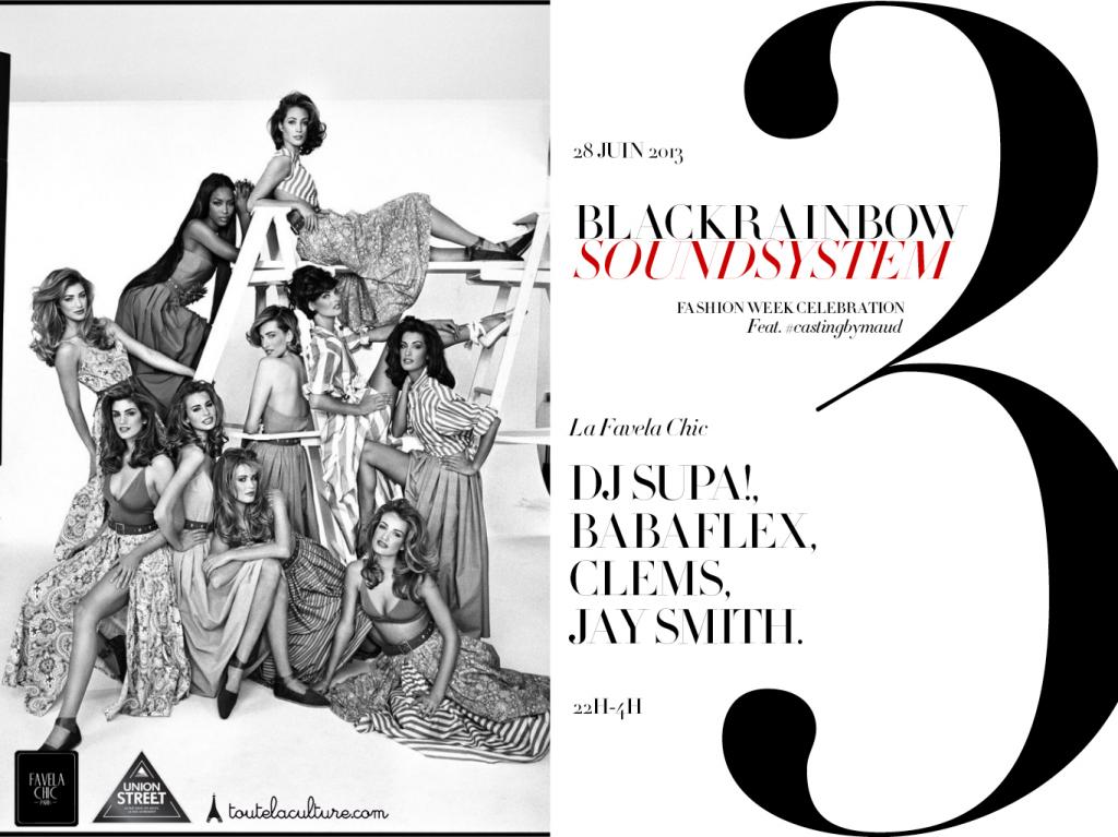 Gagnez 3×2 places pour la soirée «BLACKRAINBOW SOUNDSYSTEM III #fashionweekcelebration», le 28 juin à la Favela Chic