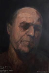 Francois Ferrie- Visage d'homme