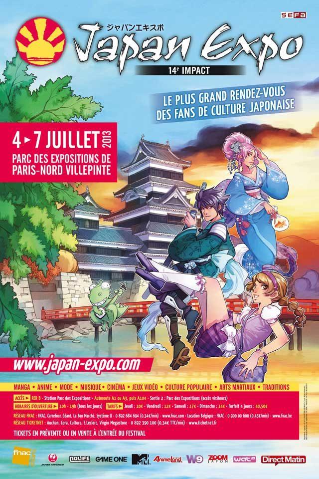 Japan expo 14e impact du 4 au 7 juillet 2013 au Parc des Expositions à Paris-Nord Villepinte