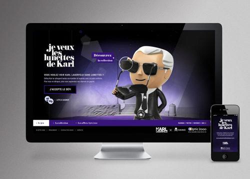 Les lunettes de Karl Lagerfeld à gagner…