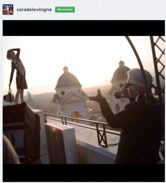 Cara Delevingne dévoile la nouvelle campagne Fendi sur Instagram