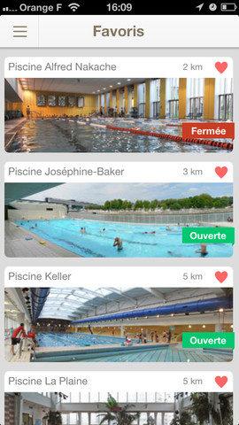 Où nager à Paris en temps réél