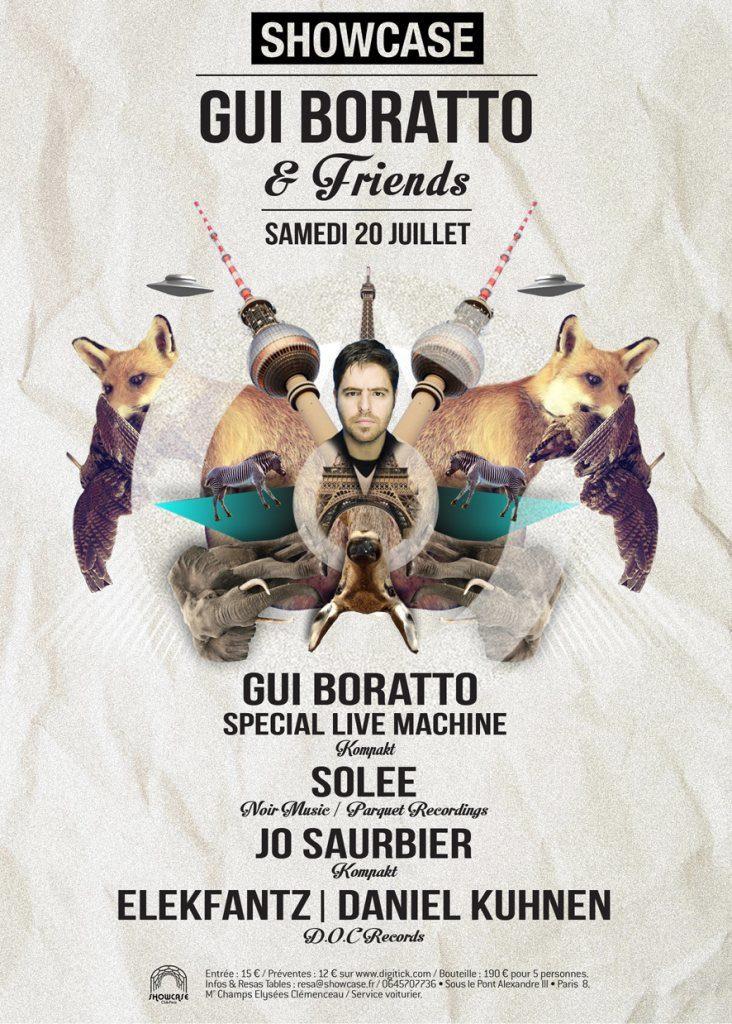 Gagnez 2×2 places pour la soirée GUI BORATTO & FRIENDS au Showcase le 20 juillet 2013