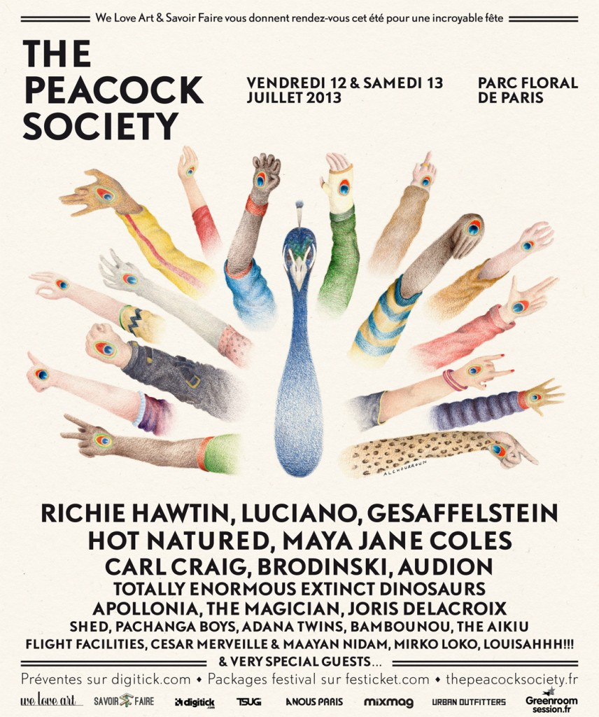 The Peacock Society : la techno est dans le pré