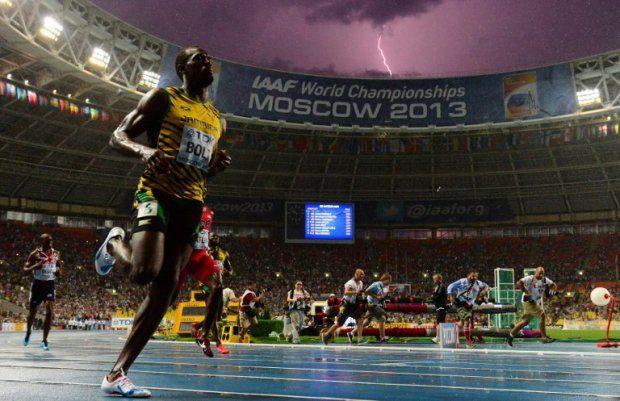 Usain Bolt immortalisé par la foudre