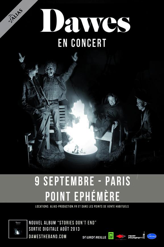 Gagnez 2×2 places pour le concert de Dawes le 9 septembre au Point Ephémère