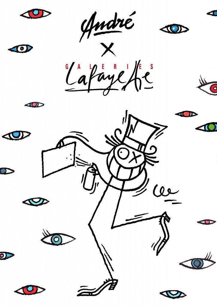 Haute performance : André Saraiva graphe en direct et en apesanteur la façade des Galeries Lafayette