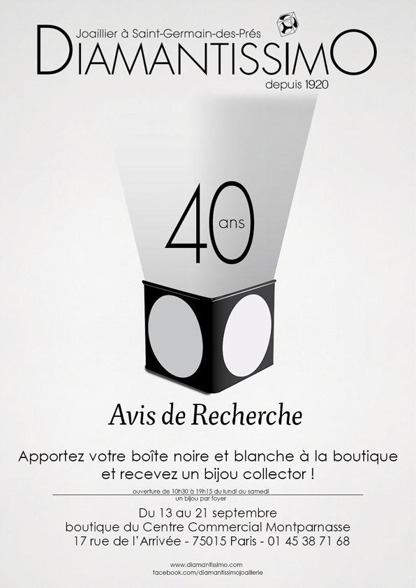Diamantissimo fête son 40ème anniversaire à Montparnasse en vous offrant un cadeau