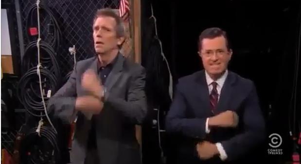 Les Daft Punk plantent une émission US, du coup Stephen Colbert et Hugh Laurie dansent Get Lucky