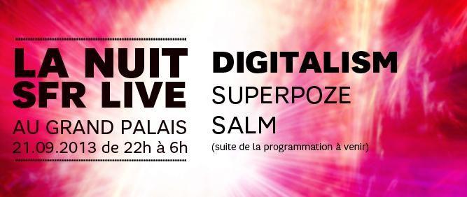 Les premiers noms de la Nuit SFR du 21 septembre au Grand Palais