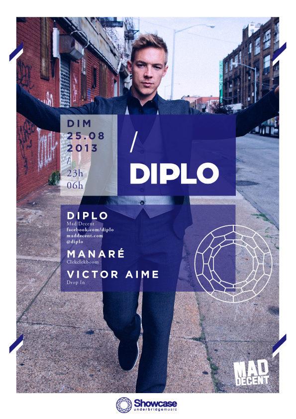Gagnez 5×1 places pour l'aftershow de Diplo (DJ set) au Showcase, le 25 août