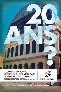 Opéra gratuit à Lyon, une condition : avoir 20 ans !