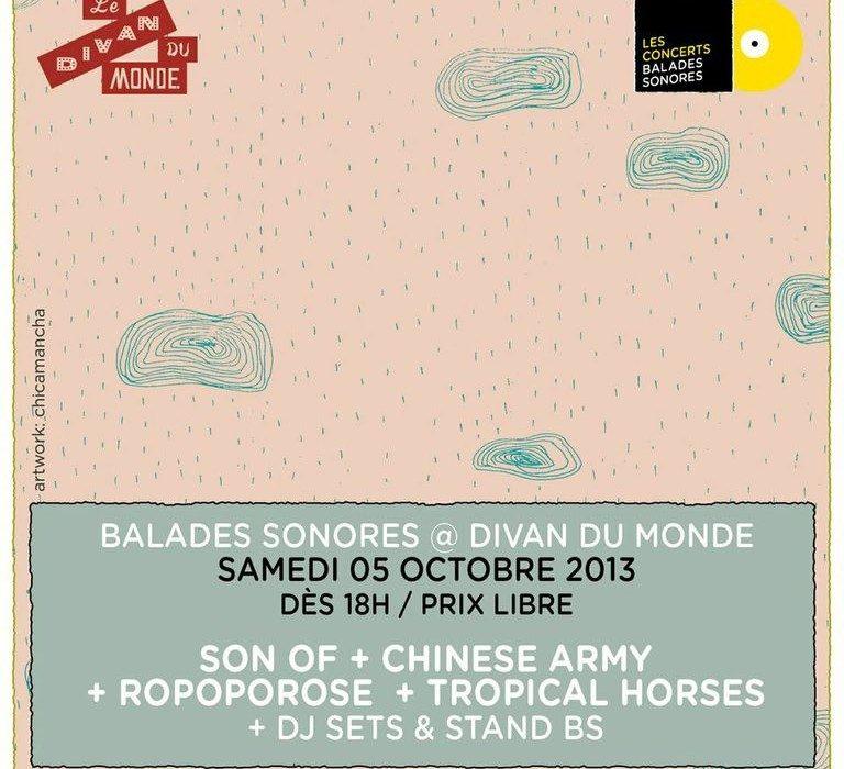 Gagnez 1 disque et une place pour le concert Balades Sonores au Divan du Monde le 05.10