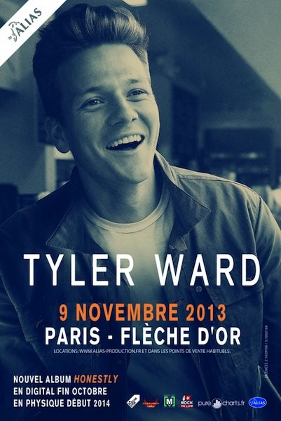 Gagnez 2 places pour le concert de Tyler Ward à la Flèche d'Or le 9 novembre