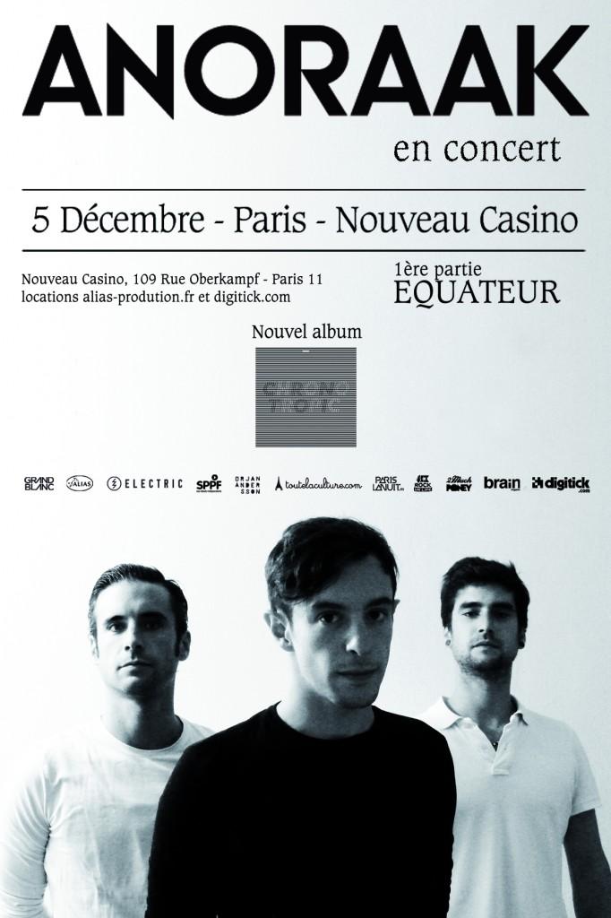 Gagnez 2×2 places pour le concert d'Anoraak au Nouveau Casino le 05 décembre