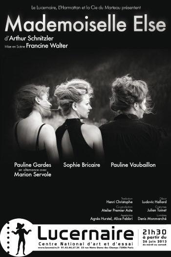«Mademoiselle Else» par Francine Walter, un doux vertige