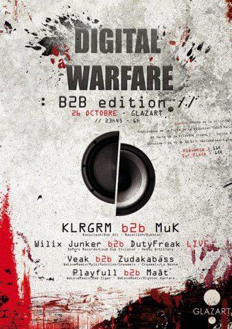 Gagnez 3×2 places pour la soirée «Digital Warfare» au Glazart le 26.10