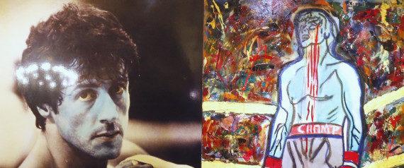 Sylvester Stallone expose ses tableaux à Saint-Pétersbourg