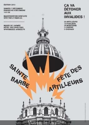 Fête de la Sainte Barbe 2013 aux Invalides à Paris