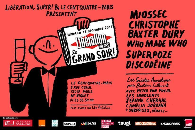 Libération fête ses 40 ans au Centquatre!