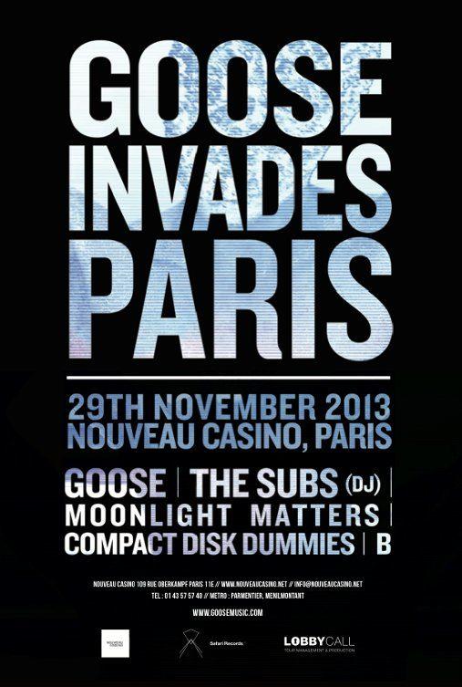 Gagnez 2×2 places pour la soirée «Goose Invades Paris» au Nouveau Casino le 29.11