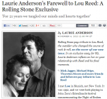 laurie anderson hommage à lou reed
