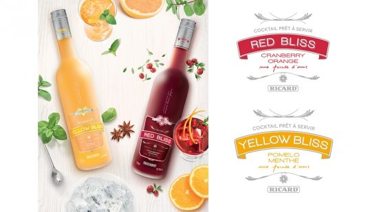 Red & Yellow Bliss, deux cocktails préparés par Sandrine Houdré-Grégoire pour Ricard