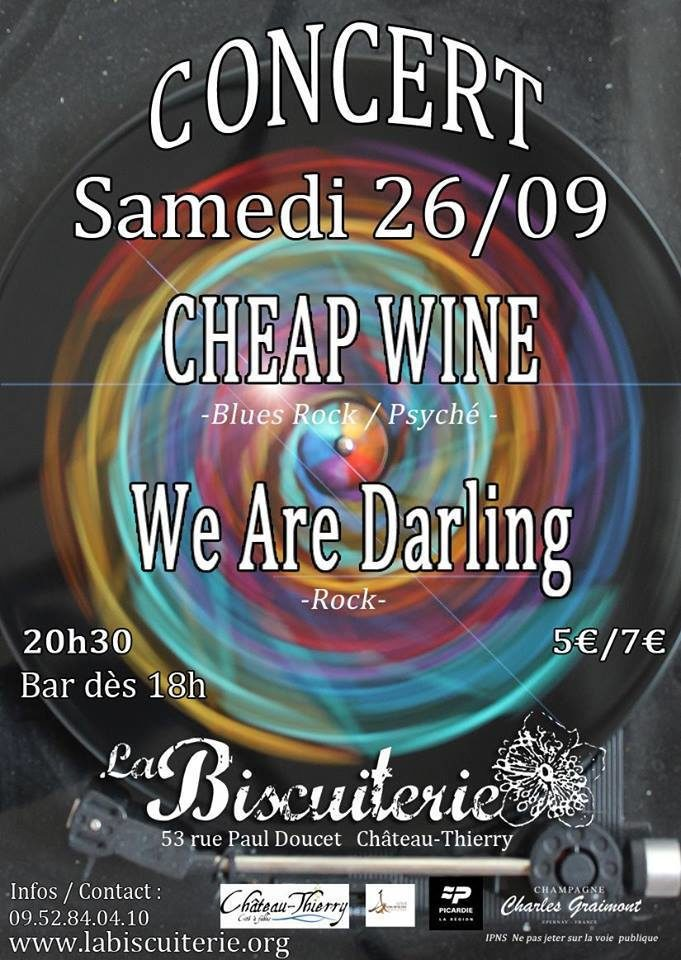 Concert Rock Cheap Wine + We are Darling