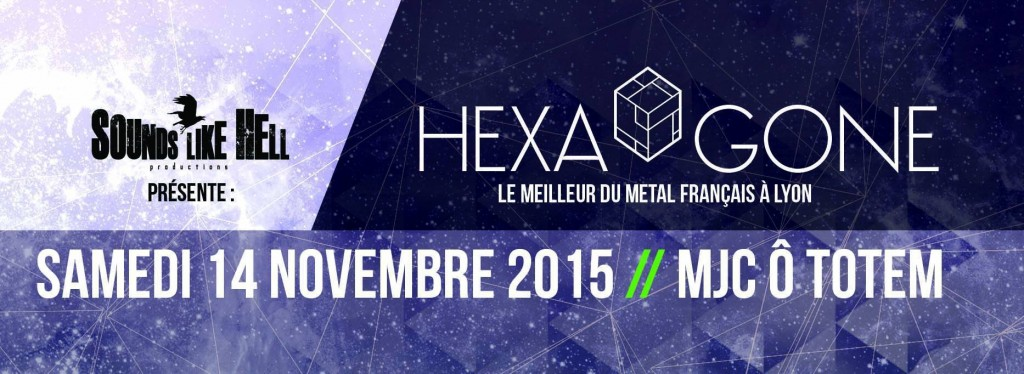 Hexa'Gone II avec Uneven Structure + Klone + Lodz + Until The Uprising + The Arisen @ Mjc O Totem (Lyon)