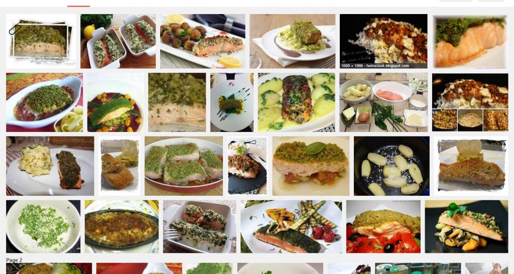 La recette de Claude : Pavé de saumon en croûte d'herbes