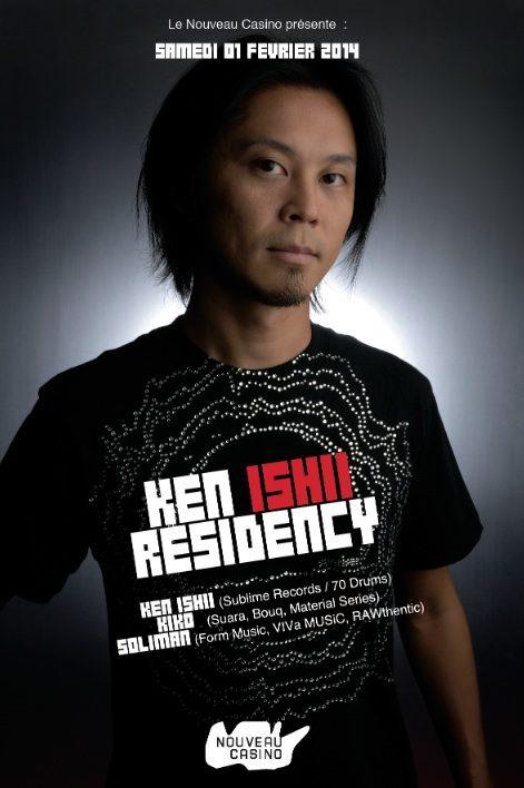 Gagnez 2×2 places pour la soirée «Ken Ishii Residency #3» au Nouveau Casino le 1 février