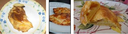 La recette de Claude : petits chaussons aux poires, pommes et munster