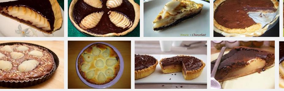 tarte aux poire et chocolat Recherche Google