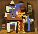 Picasso Musiciens aux masques. Summer 1921. 200.7 x 222.9 cm