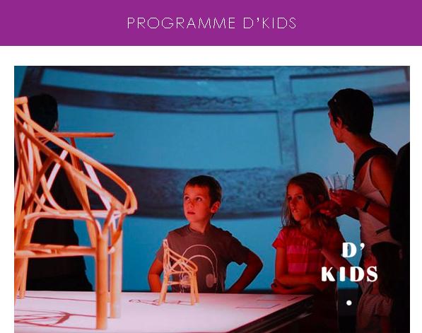 Un programme tout feu tout flamme pour les enfants lors des Designer's Days