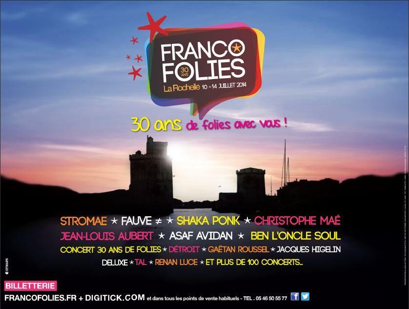 Gagnez vos places pour les Francofolies de La Rochelle du 10 au 14 Juillet