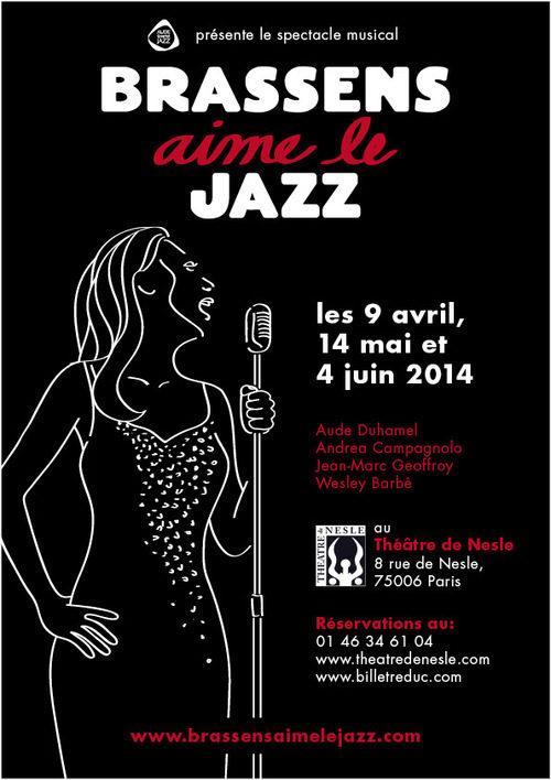 Brassens aime le jazz au Théâtre de Nesle