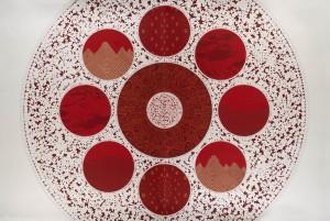 The Machine of Entangling Landscapes VII, 2011. Gouache sur papier, 160,5 x 240 cm. © Rui Moreira. Courtesy Galerie Jaeger Bucher/Jeanne-Bucher, Paris. Photo : Laura Castro Caldas.