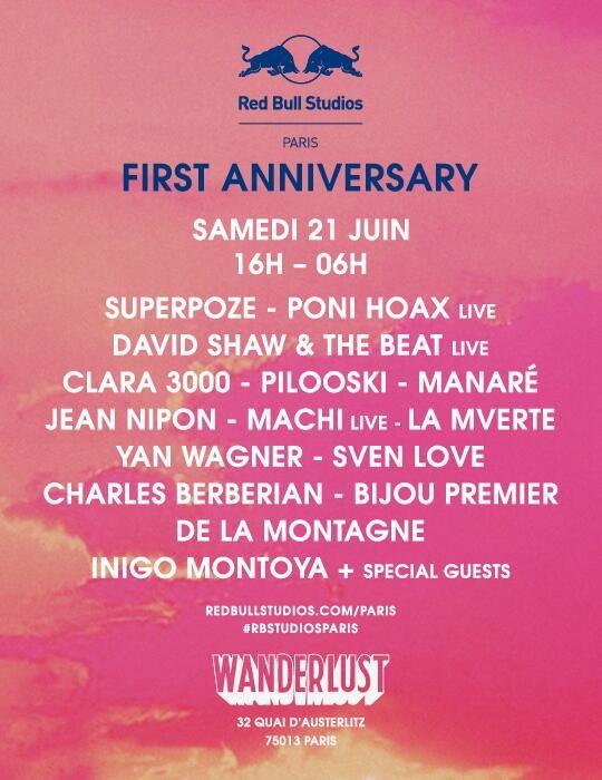 Gagnez 2×2 places pour le Red Bull Studio First Anniversary au Wanderlust le 21 juin
