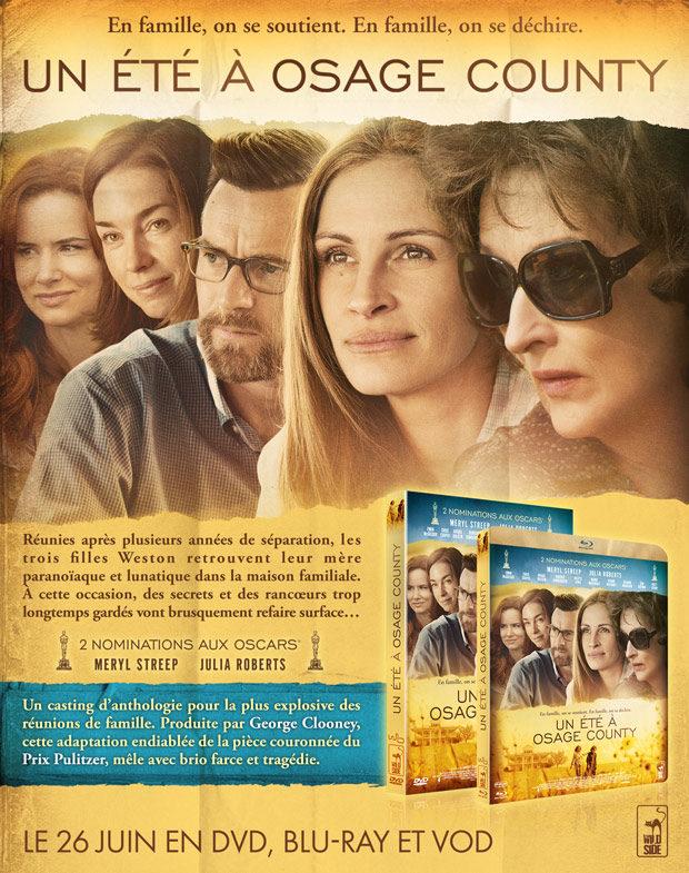 dvd : Un été à Osage County, révélations familiales avec Meryl Streep et Julia Roberts
