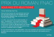 Annonce sélection juré  13ème Prix du roman Fnac