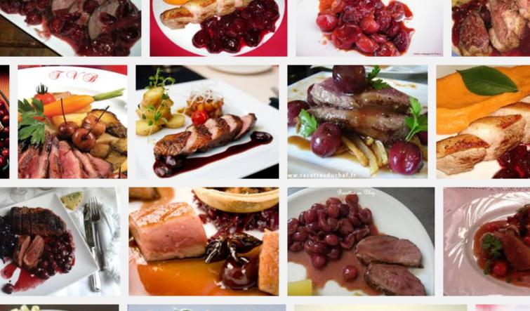 La recette de Claude : canard aux cerises