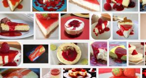 cheese cake au citron et au coulis de fraises Recherche Google