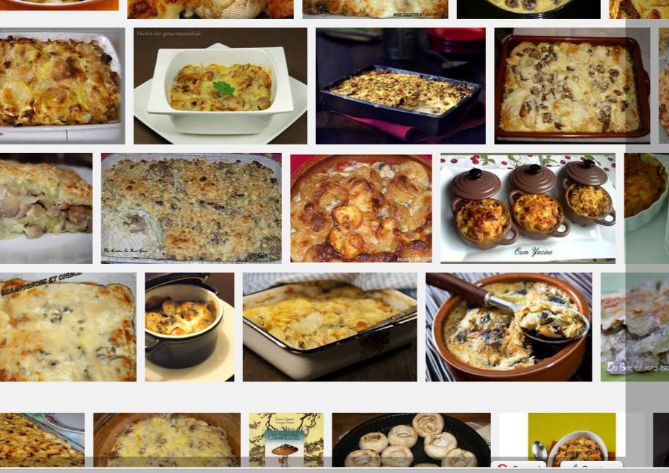 La recette de Claude : gratin de champignons