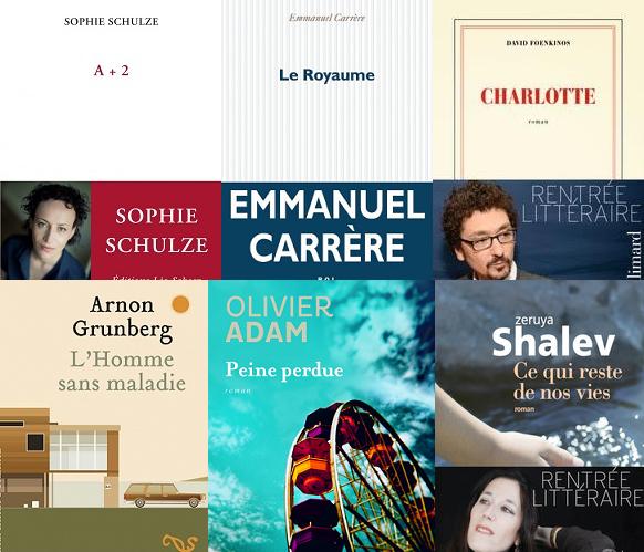 Delacourt, Reinhardt, Salvayre et Foenkinos sur la première sélection du Goncourt