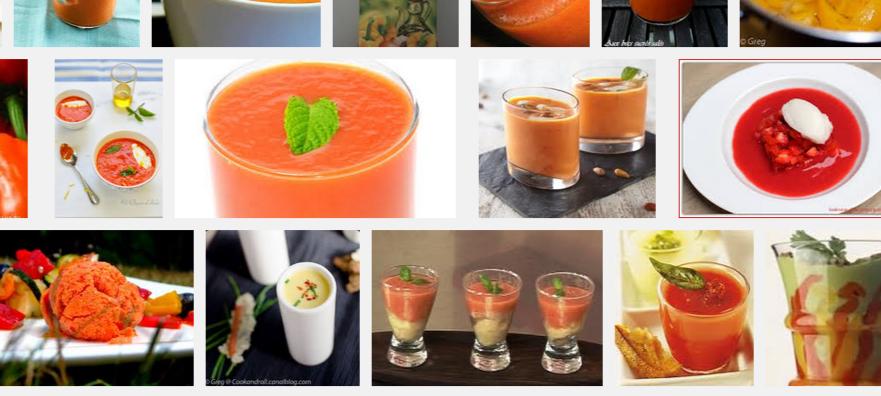La recette de Claude : soupe de poivrons glacée